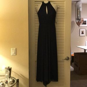 Monique Lhuillier Chiffon Navy Bridesmaid gown